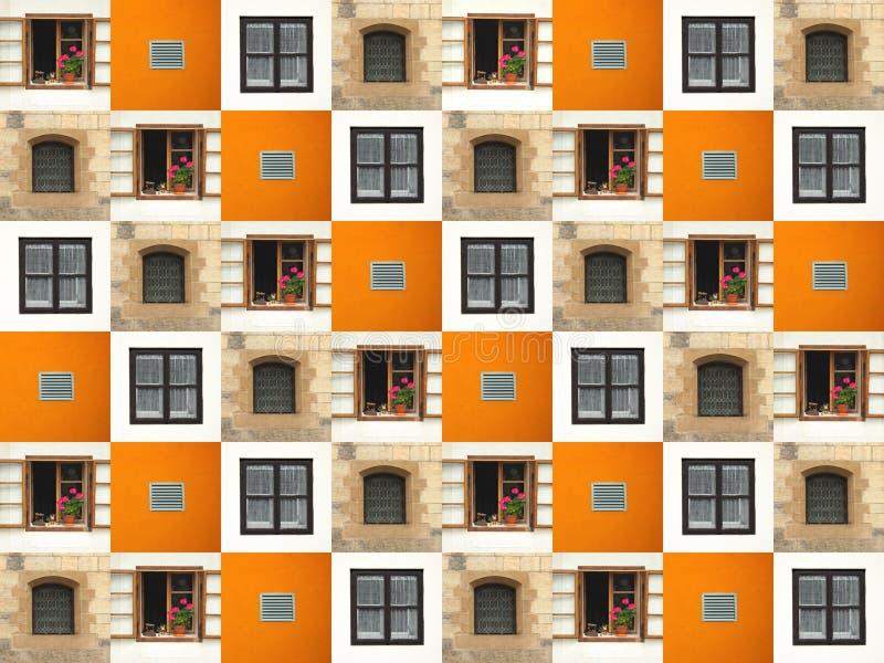 Collage de Windows photographie stock libre de droits
