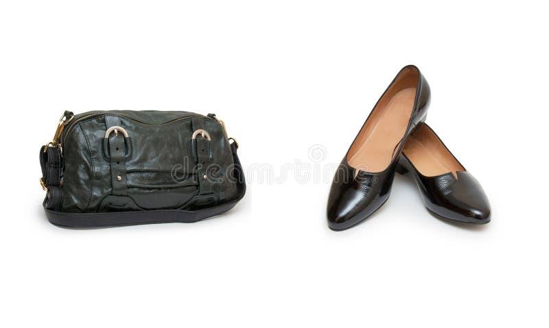 Collage de zapatos y de bolsos en blanco foto de archivo imagen de sandalia elegancia 63005166 - Zapatos collage ...