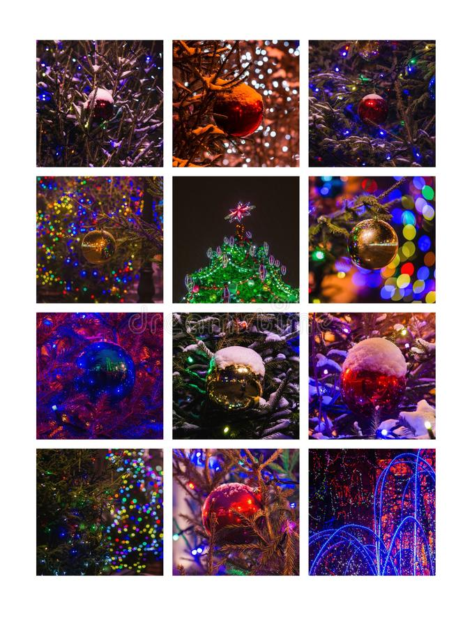 Collage December stock fotografie
