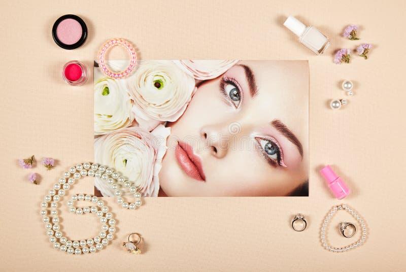Collage degli accessori di signora di modo fotografie stock libere da diritti