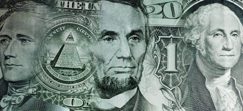 Collage degli elementi delle banconote in dollari immagine stock libera da diritti