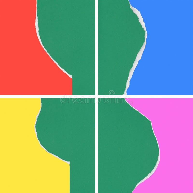 Collage degli strappi di carta immagine stock libera da diritti
