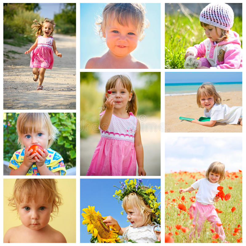 Collage dei bambini fotografia stock libera da diritti