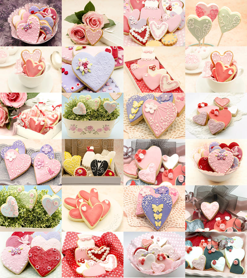 Collage dei biscotti decorati immagini stock libere da diritti
