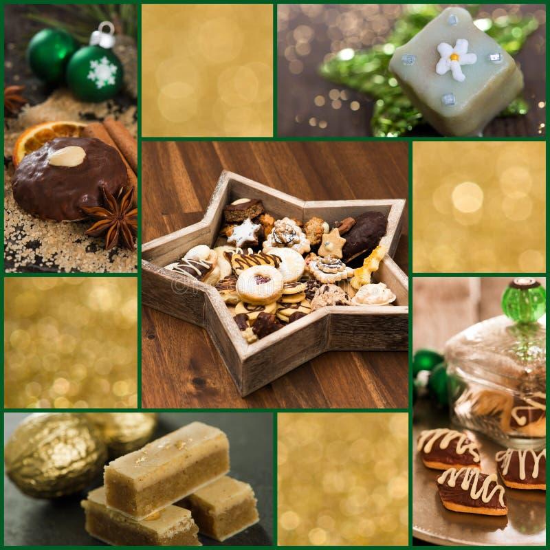 Collage dei biscotti di Natale fotografia stock