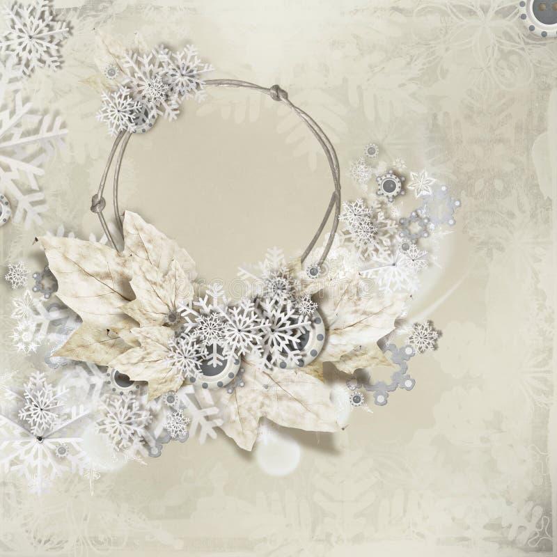 Collage dei fiocchi di neve illustrazione di stock