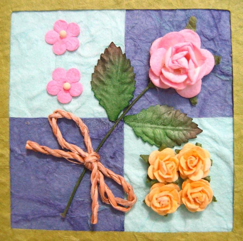 Collage dei fiori sulla trapunta fotografie stock