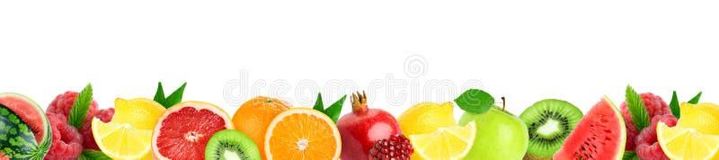 Collage dei frutti misti Frutti freschi di colore fotografia stock libera da diritti