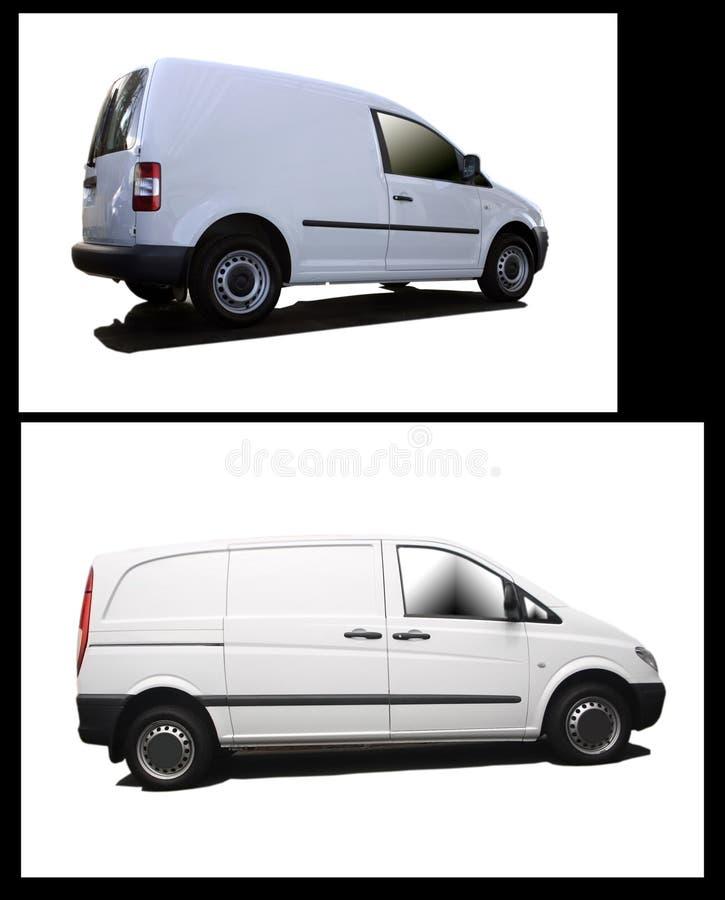 Collage dei furgoni in bianco fotografia stock