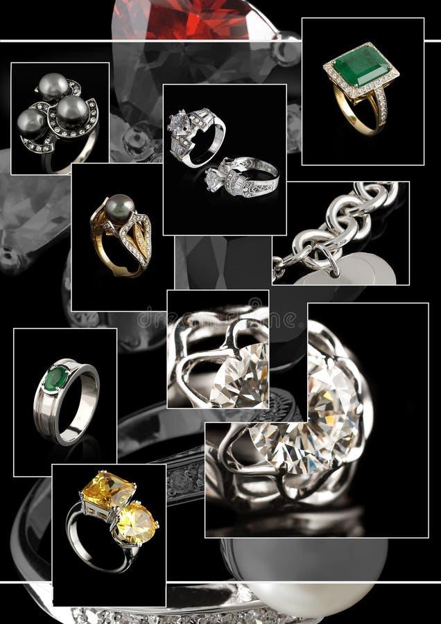Collage dei monili illustrazione di stock