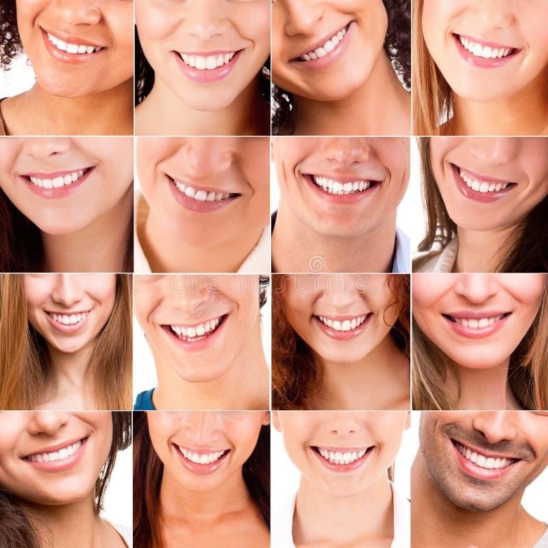 Collage dei sorrisi differenti fotografie stock libere da diritti