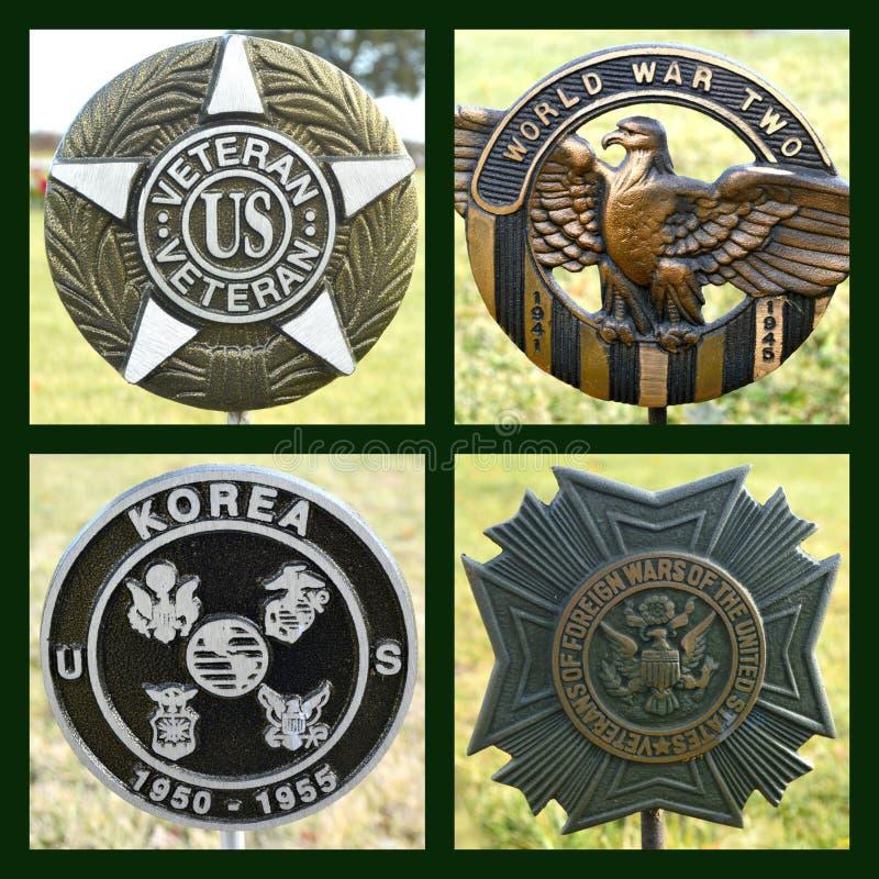 Collage dei veterani degli Stati Uniti fotografie stock libere da diritti