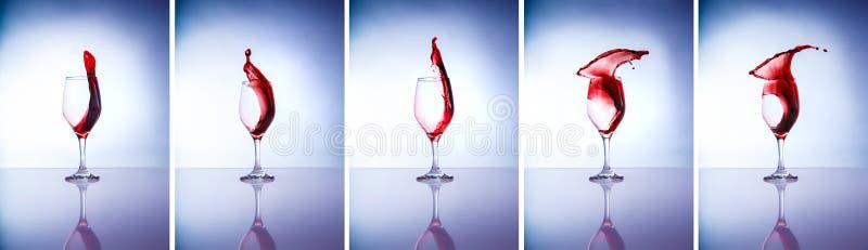 Collage dei vetri di vino immagini stock libere da diritti