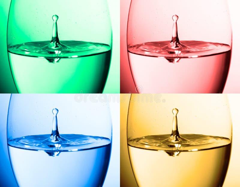 Collage del agua fotografía de archivo