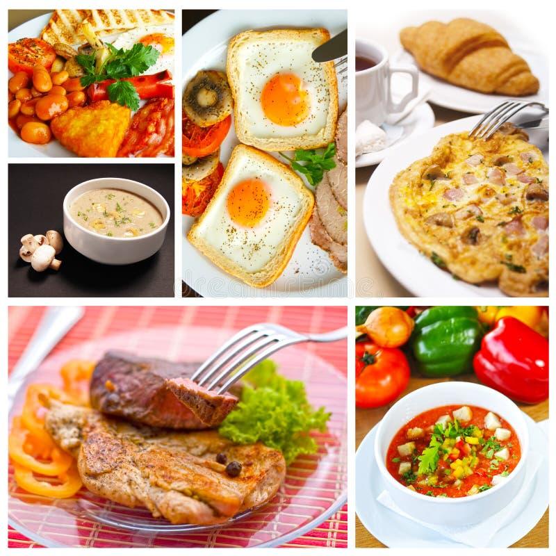 Collage del alimento imágenes de archivo libres de regalías