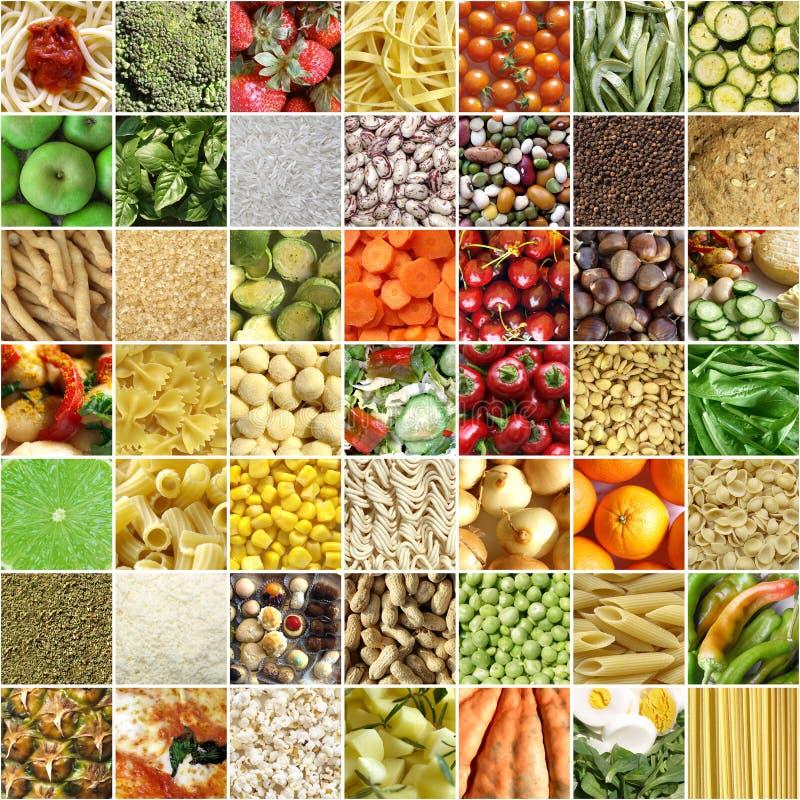 Collage del alimento foto de archivo