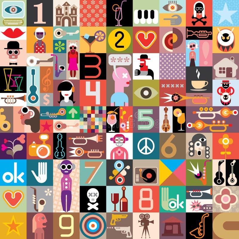 Collage del arte libre illustration