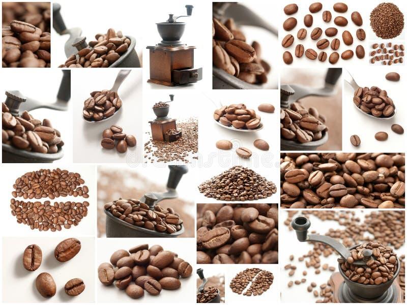 Collage del café fotos de archivo