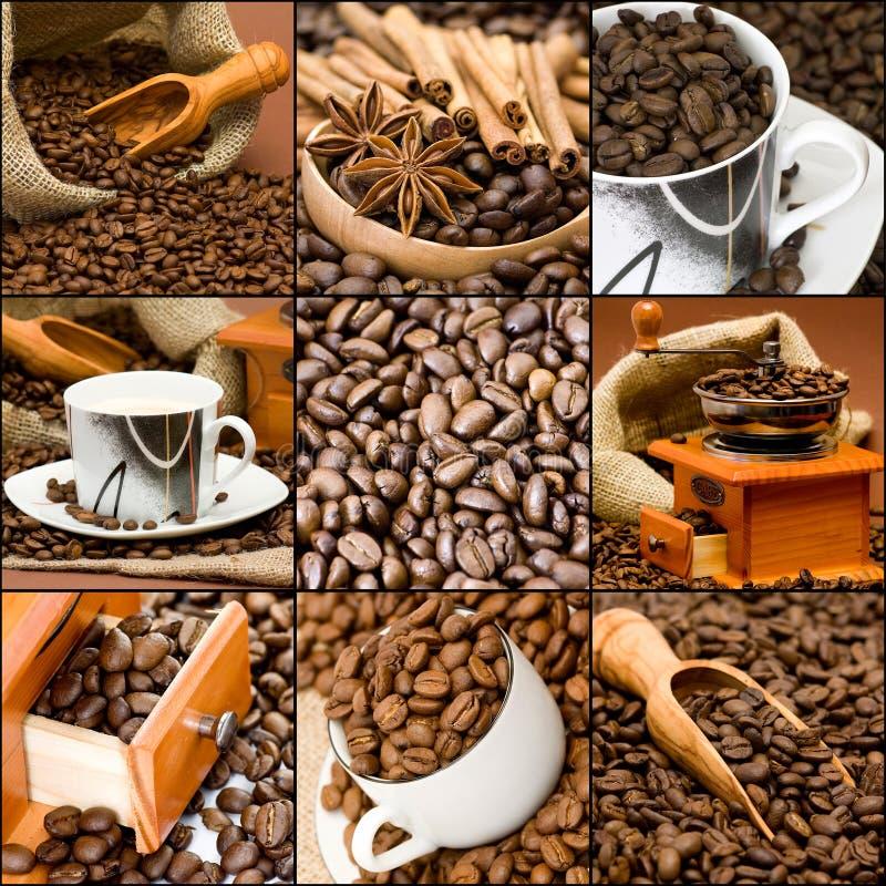 Collage del café imagen de archivo libre de regalías
