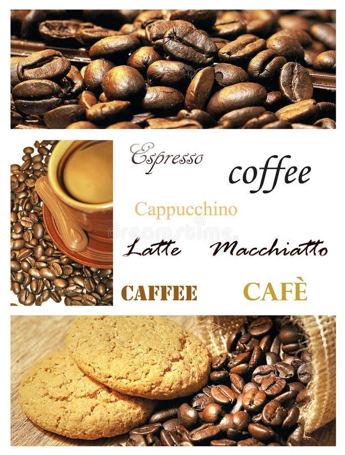 Collage del café imagen de archivo