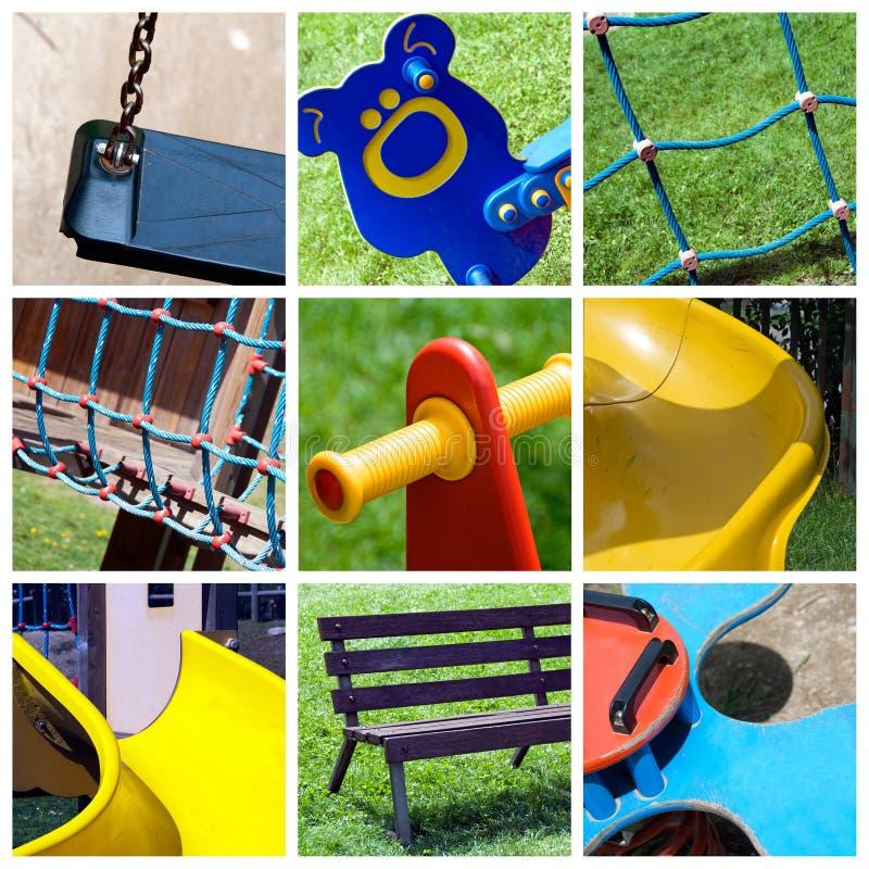 Collage del campo da giuoco fotografia stock