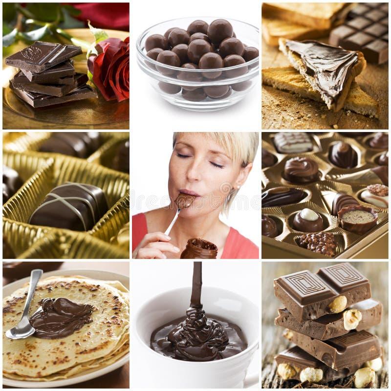 Collage del chocolate fotografía de archivo libre de regalías