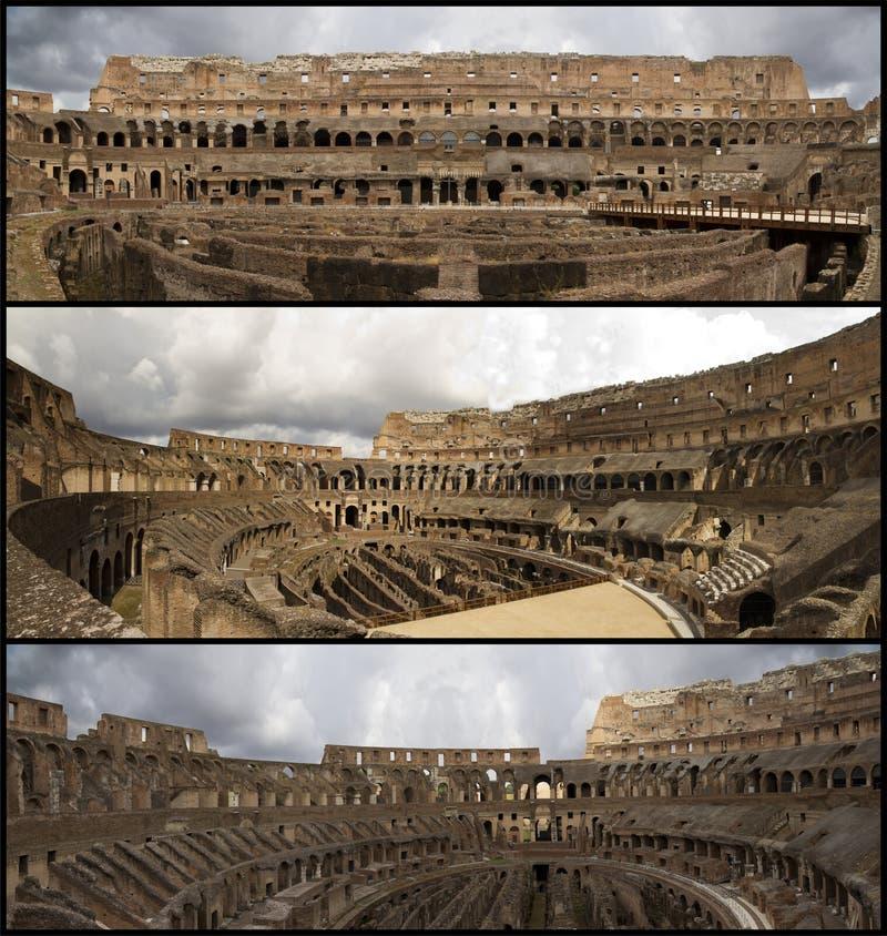 Collage del coliseo fotografía de archivo