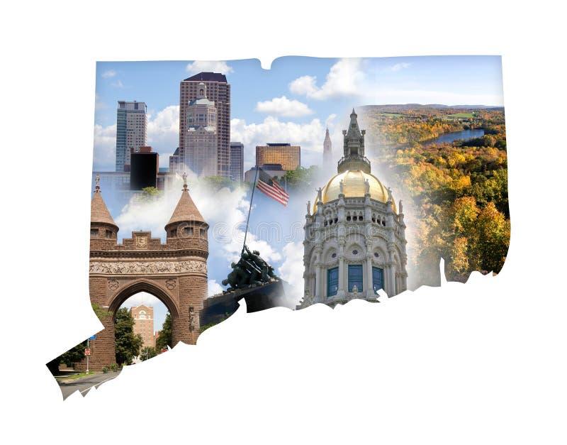 Collage del Connecticut illustrazione di stock