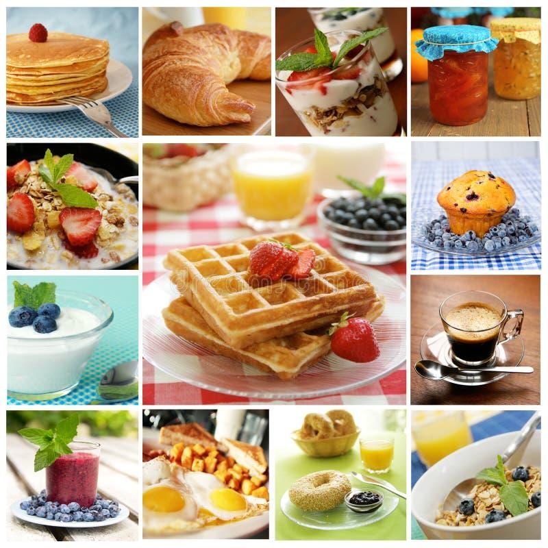 Collage del desayuno foto de archivo libre de regalías