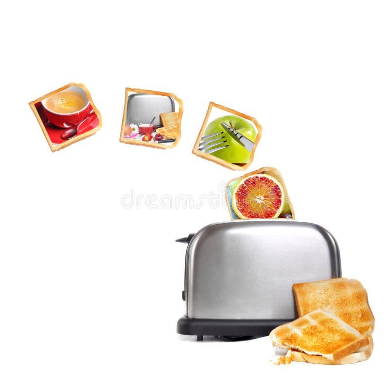 Collage del desayuno fotos de archivo