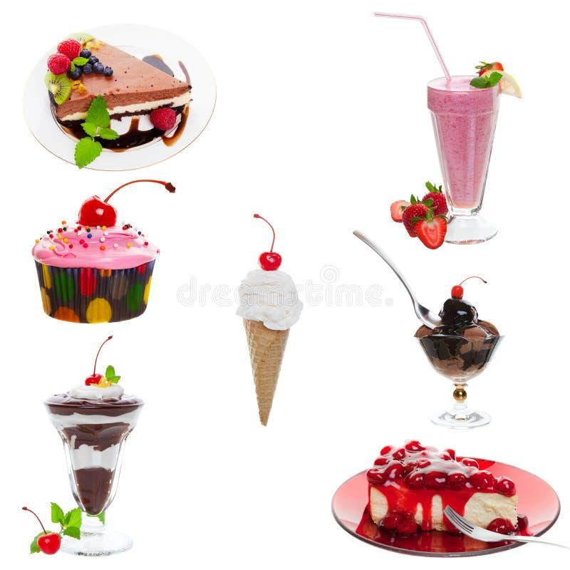 Collage del dessert immagini stock