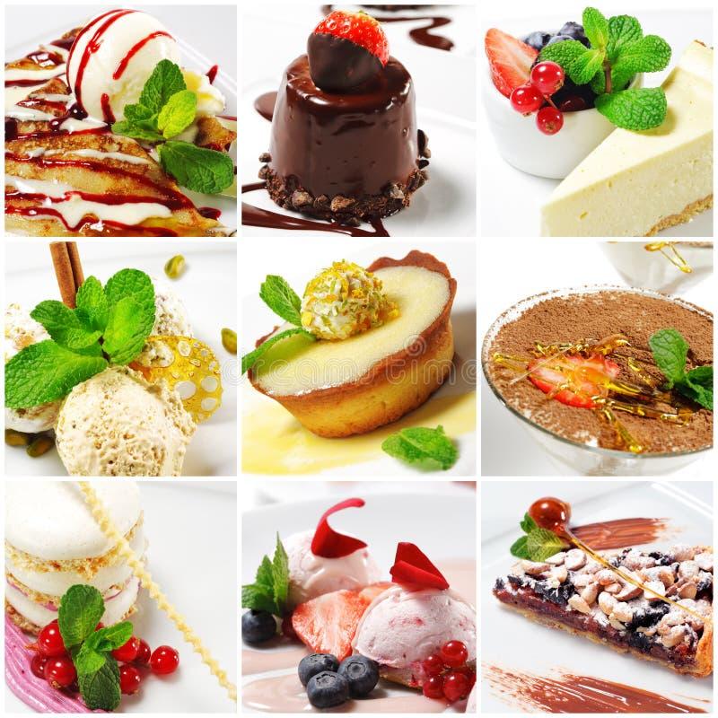 Collage del dessert immagine stock