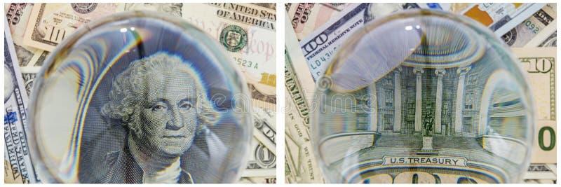Collage del dinero del Hacienda de presidente Washington fotos de archivo libres de regalías
