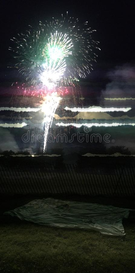 Collage del fuoco d'artificio immagini stock
