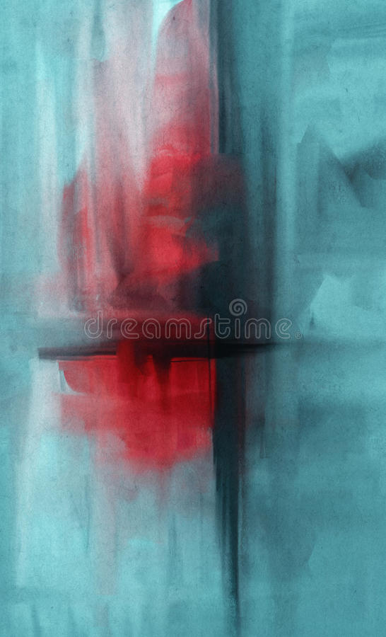 Collage del Grunge, estilo de la acuarela ilustración del vector