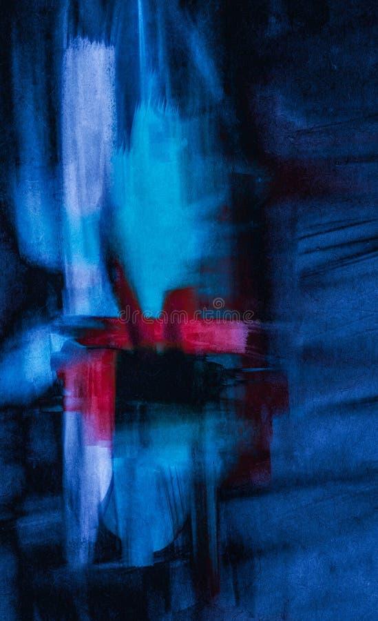 Collage del Grunge, estilo de la acuarela stock de ilustración