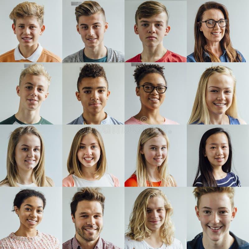 Collage del Headshot de la High School secundaria fotografía de archivo libre de regalías