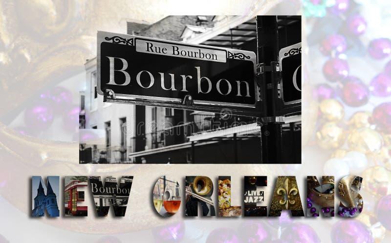 Collage del LA de New Orleans stock de ilustración