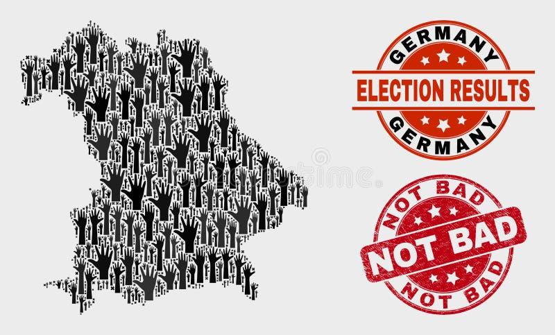 Collage del mapa de Alemania del voto y apenar el sello no malo libre illustration