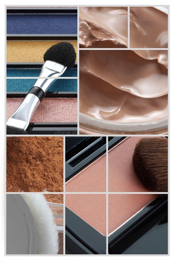 Collage del maquillaje foto de archivo libre de regalías