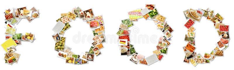 Collage del menú del alimento foto de archivo