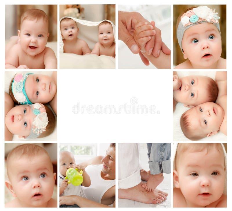 Collage del neonato fotografia stock libera da diritti