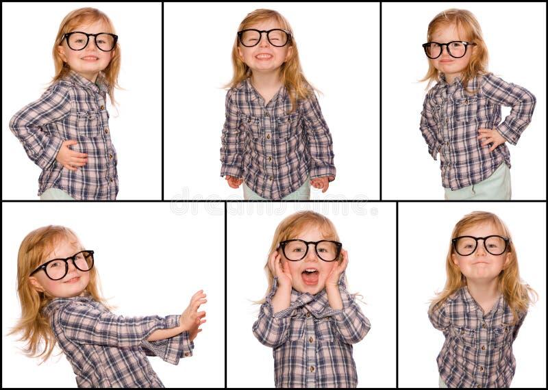 Collage del nerd immagini stock libere da diritti