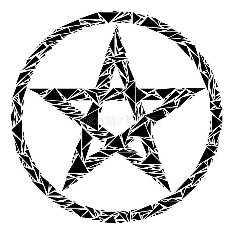 Collage del pentáculo de la estrella de triángulos ilustración del vector