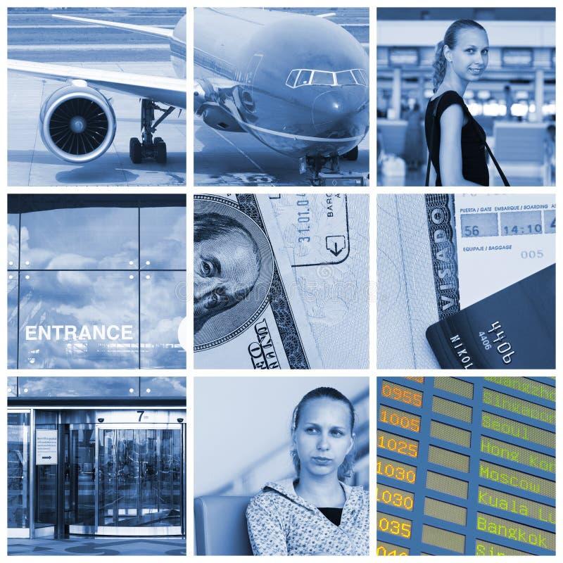 Collage del recorrido imagen de archivo libre de regalías