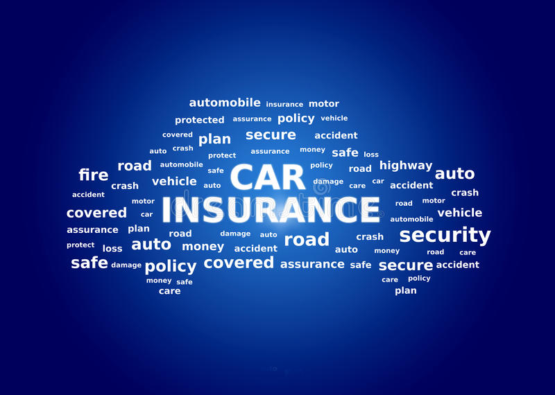 Collage del seguro de coche imagenes de archivo
