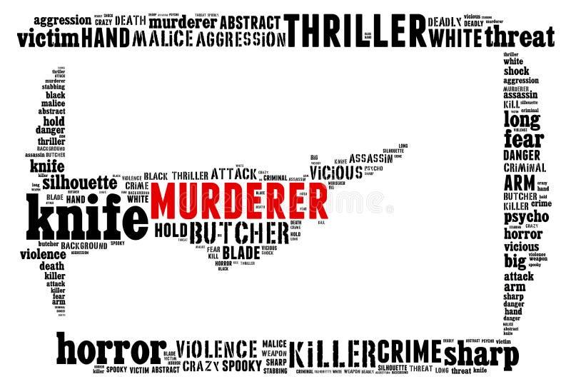 Collage del texto de la puñalada libre illustration