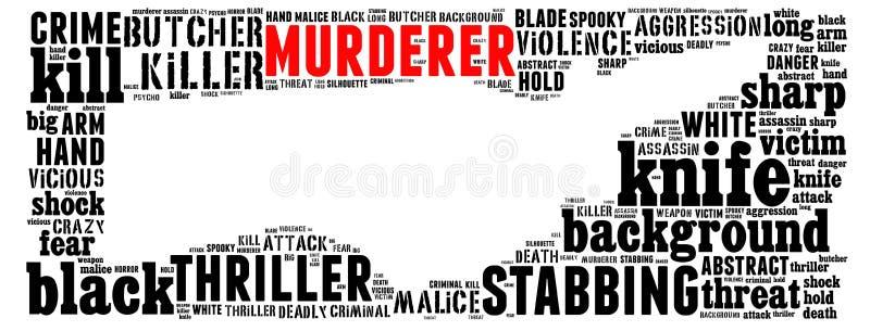 Collage del texto de la puñalada stock de ilustración
