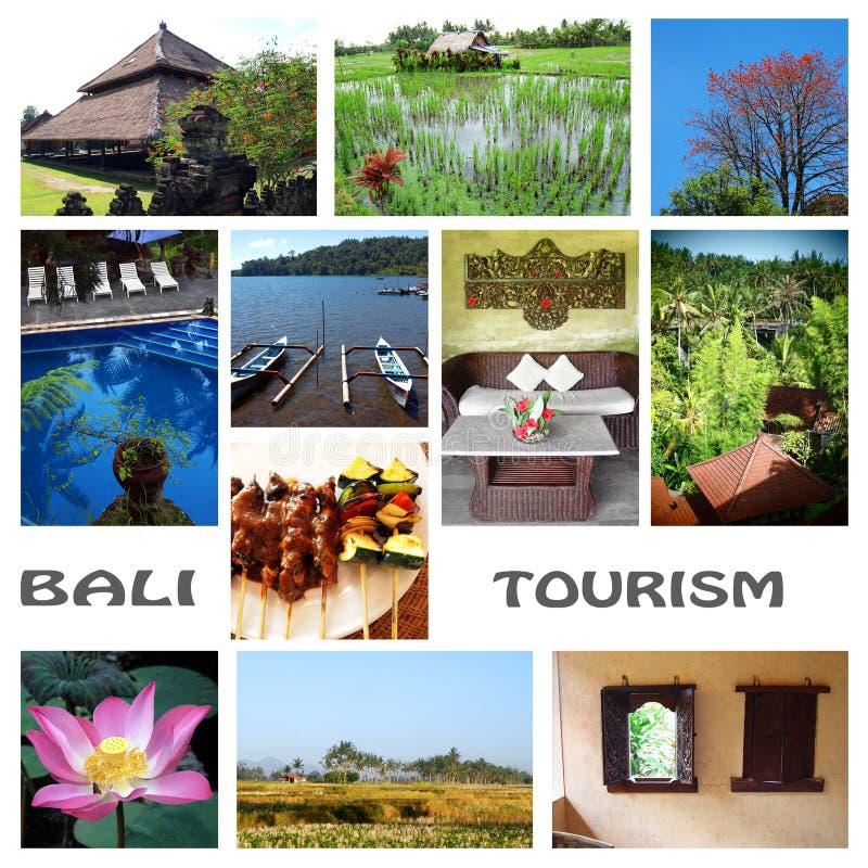 Collage del turismo de Bali imagen de archivo