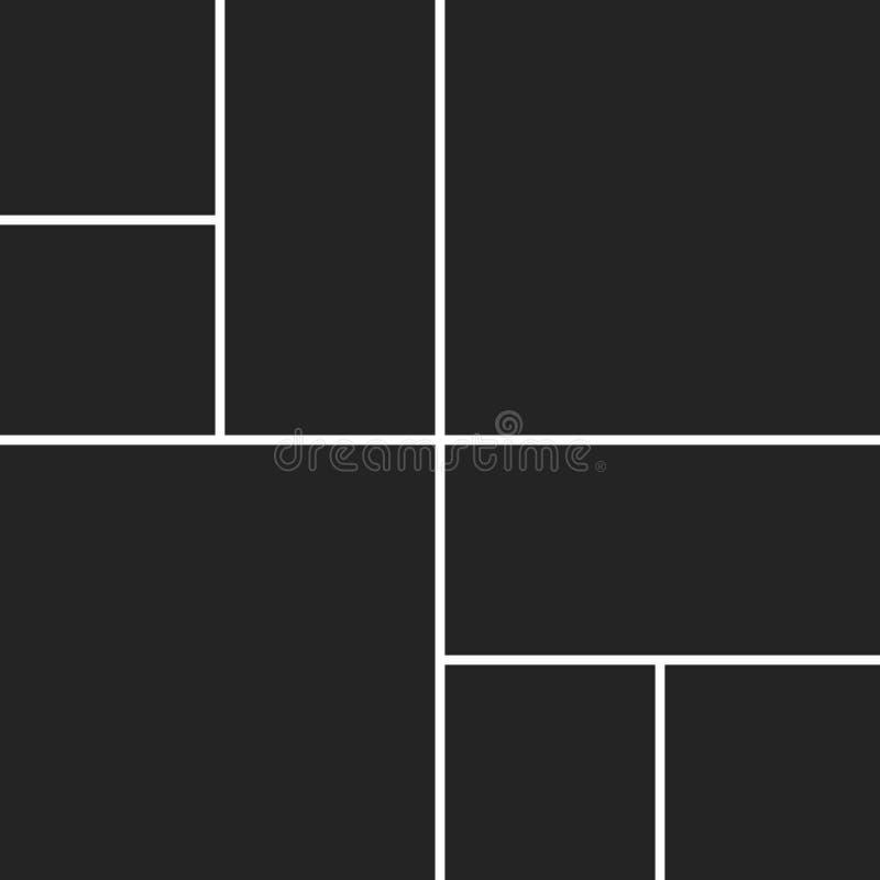 Collage del vector para las fotos libre illustration